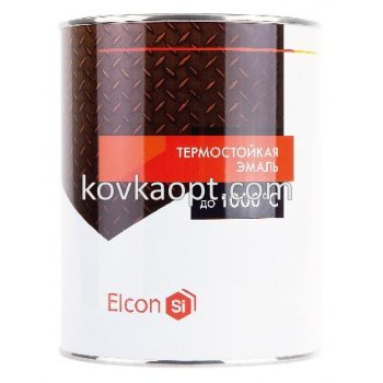 Термокраска ELCON до +700с Цвет: Чёрный; Вес 0.8кг.