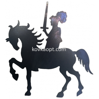 Рыцарь на коне  200х200 2мм